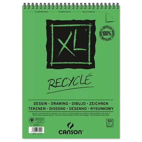 Imagem de Bloco Espiralado Canson XL Recycle 160g/m² A4 21x29.7 com 50 Folhas - 200777128