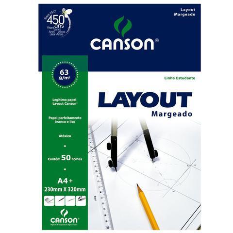 Imagem de Bloco Layout Margeado Canson 63/m² A4+ 230 x 320 mm com 50 Folhas - 66667076