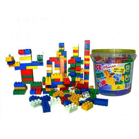 Imagem de Blocos de Montar Block Mania com 104 Peças Alfem Plastic 6000