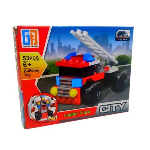 Imagem de Blocos de Montar Creator City 4x1 Carro Robo Caminhão Robo 53 peças - Ausini