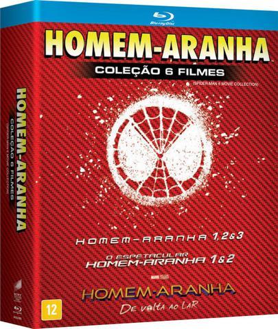 Imagem de Blu-Ray Homem Aranha - Coleção 6 Filmes - 6 Discos