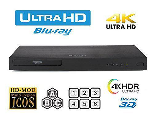 Imagem de Bluray LG 4k Ubk80 3D Multi-região- Importado