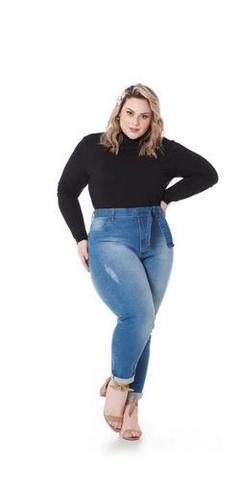 Imagem de Blusa Cacharrel Gola Alta Feminina Plus Size 1130