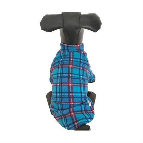 Imagem de Blusa Para Cachorro Xadrez Azul 21 x 20 Cm Fábrica Pet