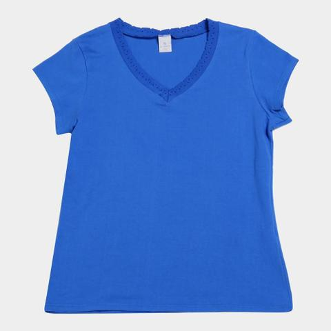 Imagem de Blusa Plus Size Lecimar Lisa Feminina