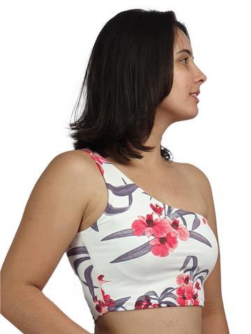 Imagem de Blusinha Cropped Alça Ombro Único Feminina K2B
