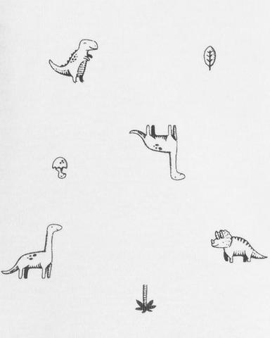 Imagem de Body carter's manga longa dinossauro PB