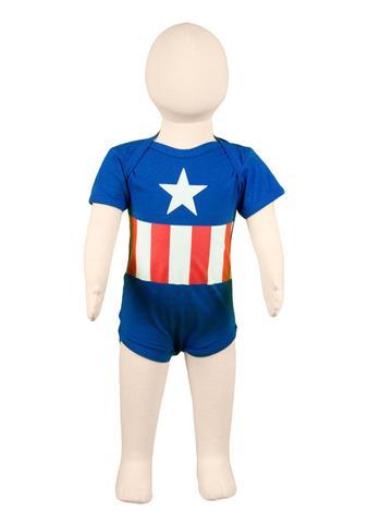 Imagem de Body Fantasia 100% Algodão Capitão América