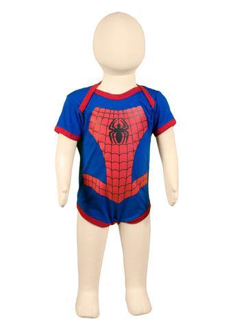 Imagem de Body Fantasia 100 Algodão Homem Aranha