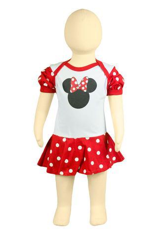 Imagem de Body Fantasia 100 Algodão Minnie Mouse Branca