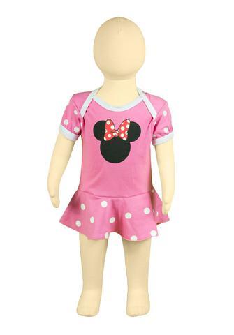 Imagem de Body Fantasia 100 Algodão Minnie Mouse Rosa