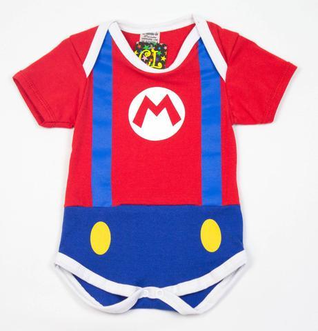 Imagem de Body Fantasia 100 Algodão Super Mario
