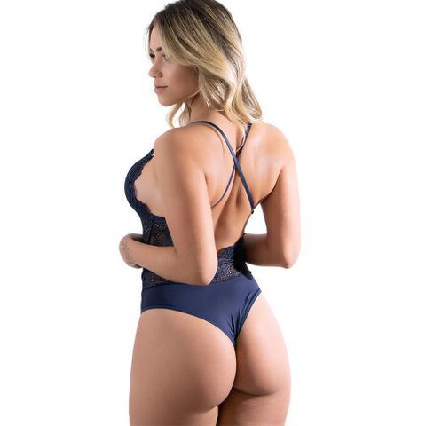 Imagem de Body Rendado Anita Azul Marinho