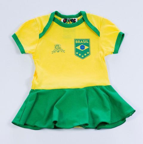 Imagem de Body Saia Time 100% Algodão Seleção Brasileira