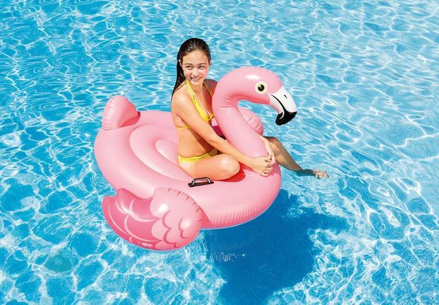 Imagem de Boia Flamingo Rosa Intex 57558 (boia das blogueiras)