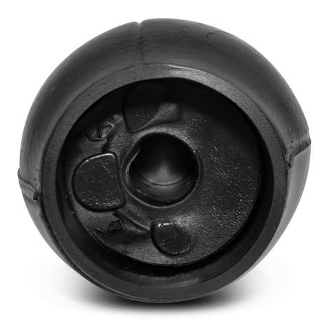 Imagem de Bola de Cambio Manopla Corsa Astra Celta Montana Meriva Vectra Preta com Aro Cromado Ré para Frente