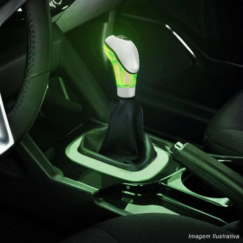 Imagem de Bola de Câmbio Manopla Naja Universal Cromada LED Verde Tuning