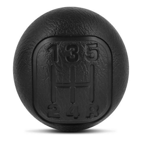 Imagem de Bola de Câmbio Manopla S10 Blazer 2001 a 2011 Preto Indicadores de Marcha em Baixo Relevo