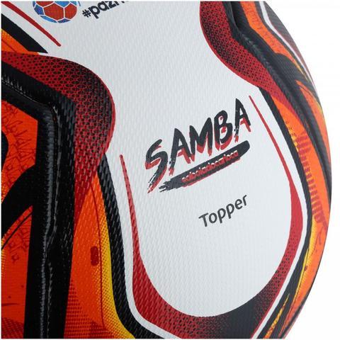 Bola de Futebol de Campo Velocity Pro Samba 2018 - Topper - Bola de ... 20f67422f3b53