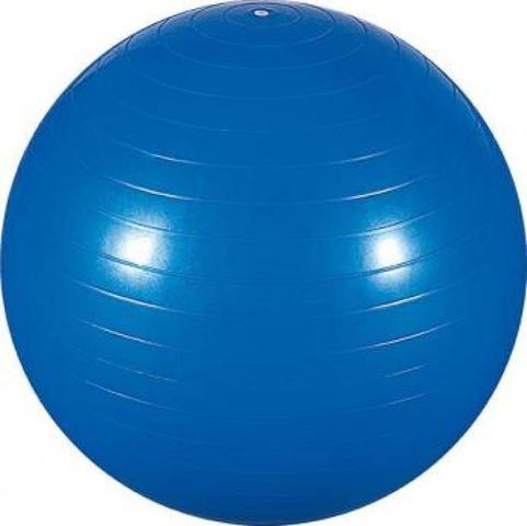 Imagem de Bola de Ginástica 65cm para Pilates e Yoga Azul Com Bomba