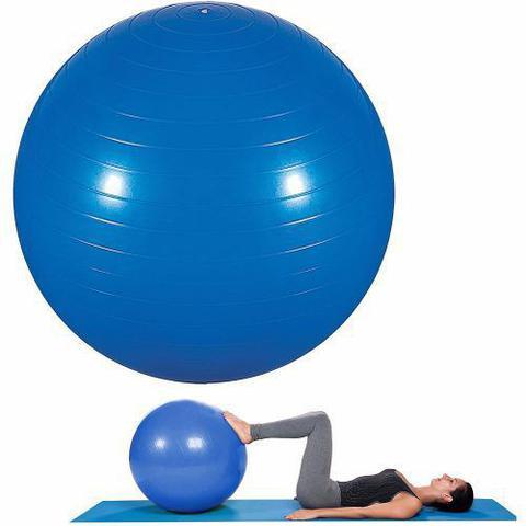 Imagem de Bola de Ginástica 75cm para Pilates e Yoga Azul MOR 40100005