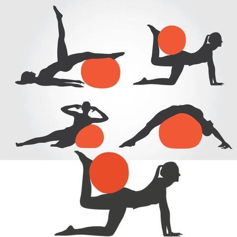 Imagem de Bola de Ginástica Pilates Suiça Yoga Abdominal Atrio 55cm