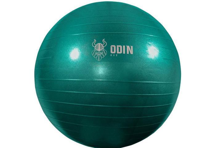Imagem de Bola de Ginástica Suíça 65cm Azul - Odin Fit