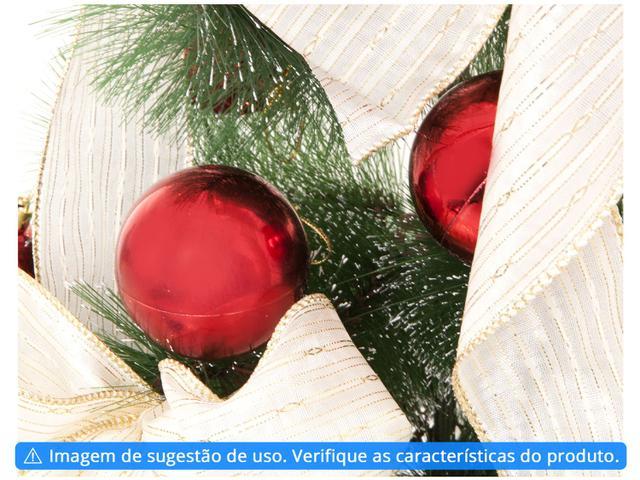 Imagem de Bola de Natal Vermelha Lisa NATAL040A Casambiente
