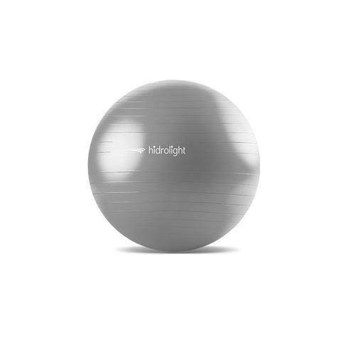 Imagem de Bola de Pilates Ginastica Hidrolight 75 cm - Cinza