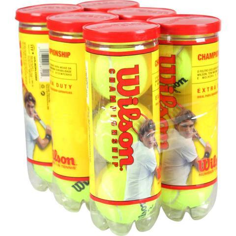 Imagem de Bola De Tênis Wilson Extra Dutty Kit Com 6 Tubos