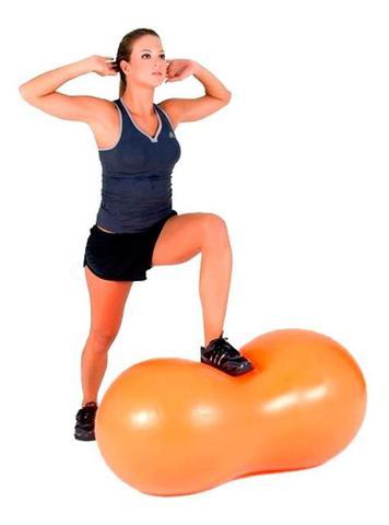 Imagem de Bola Feijao de Ginastica Pilates Yoga Laranja 45cmx90cm