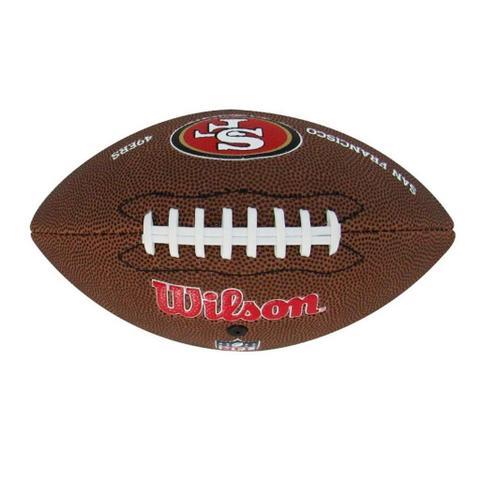 Bola Futebol Americano Wilson San Francisco 49ers JR - Futebol ... 86c35328c4183