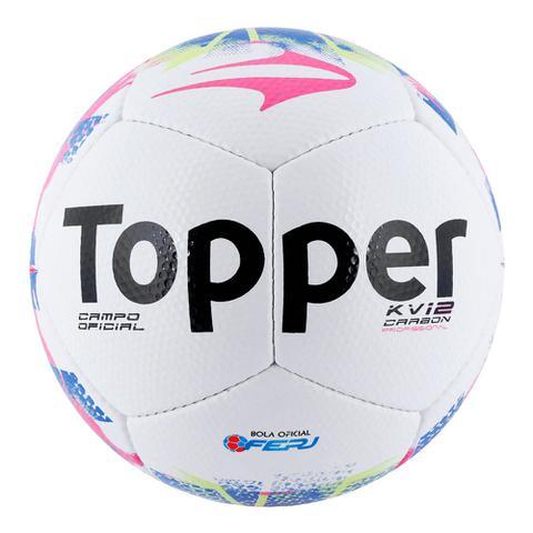 3731485c0b Bola Futebol De Campo Topper Kv Carbon 12 Rj 15 - Bolas - Magazine Luiza