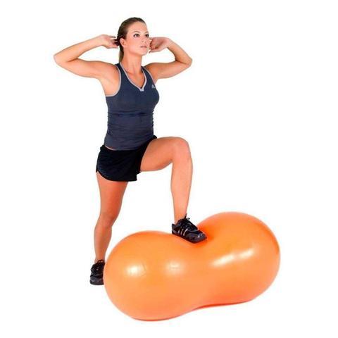 Imagem de Bola Inflável Feijão para Exercícios Pilates Ginástica Hidrolight FL26 Anti Estouro