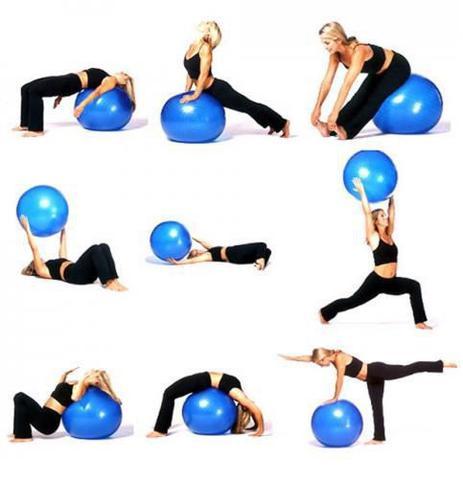 Imagem de Bola para exercícios ginástica pilates yoga 65cm