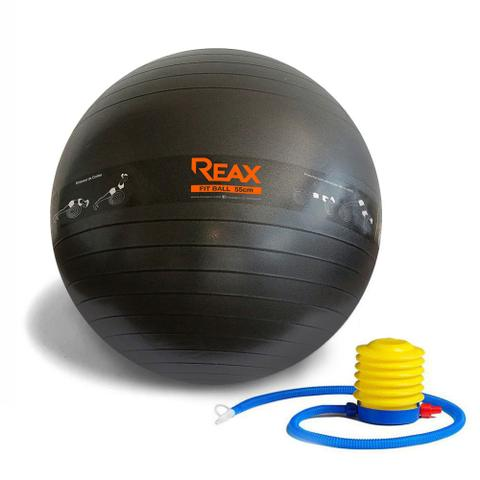 Imagem de Bola Pilates 55 cm c/ Faixa De Exercícios e Bomba Reax
