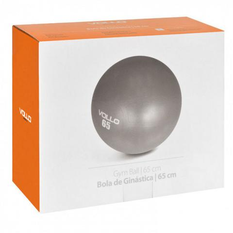 Imagem de Bola Pilates Ginastica Gym Ball 65 Cm Cinza com Bomba  Vollo Sports