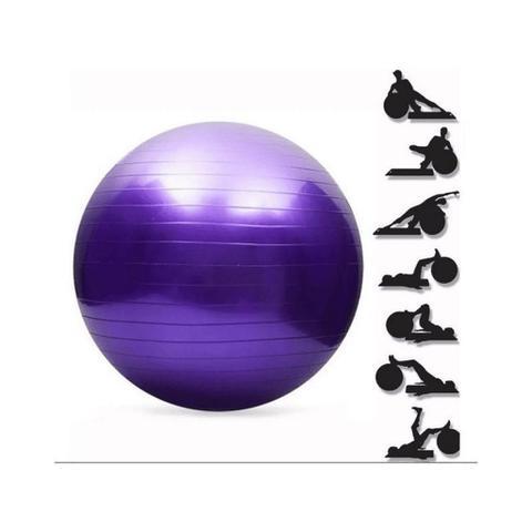 Imagem de Bola Pilates Ginástica para exercícios com bomba de ar 65cm