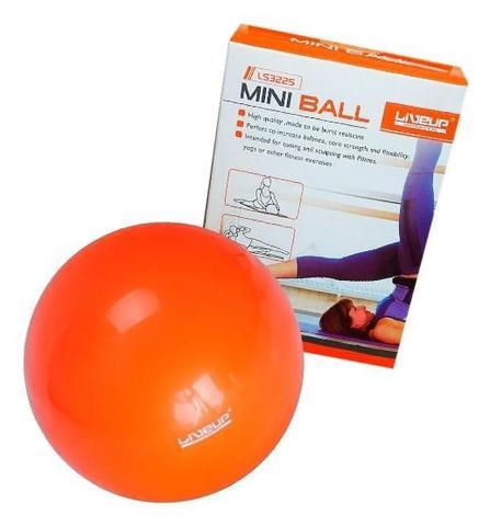 Imagem de Bola Pilates Toning Ball Yoga Overball 25 Cm Laranja Treino Ginástica Academia Exercício Liveup