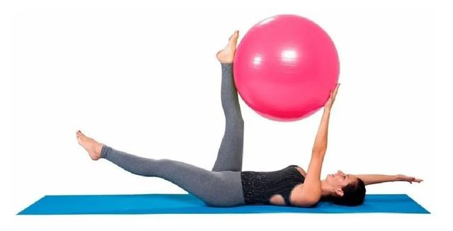 Imagem de Bola Pilates Yoga 65cm Academia Treino Ginástica Fitness Rosa
