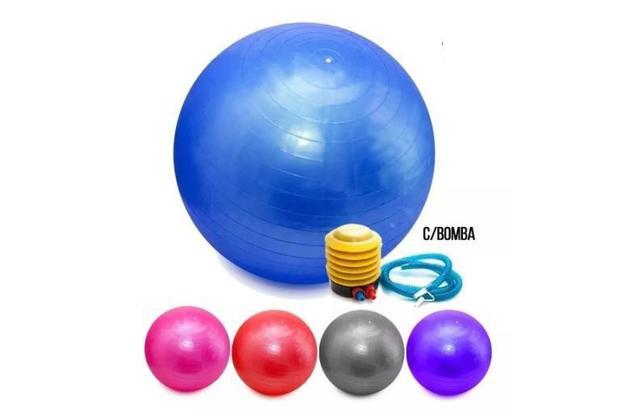 Imagem de Bola Pilates Yoga Abdominal Ginástica Fitness 75Cm C/ Bomba
