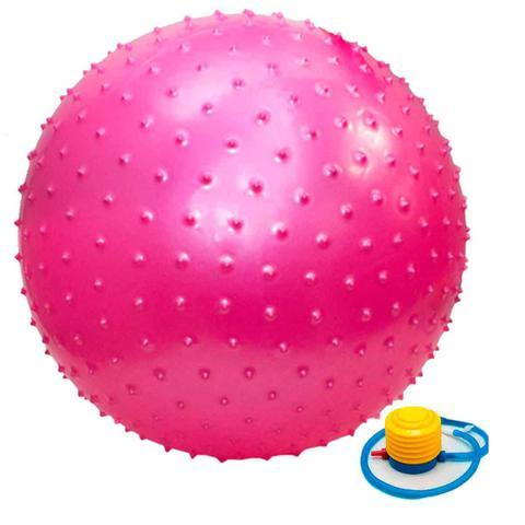 Imagem de Bola Pilates Yoga Massagem 65 Cm Cravos C/ Bomba Ginástica