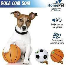 Imagem de Bola Porta Ração Cachorro Gato Petisco C/ Som - Grande