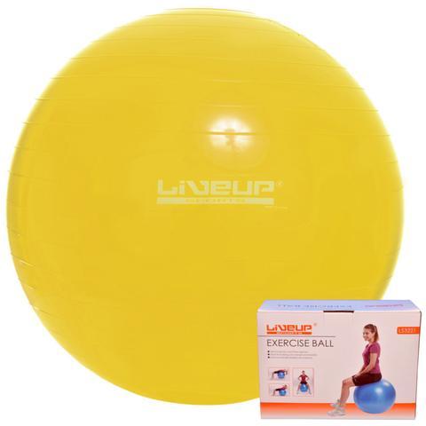 Imagem de Bola Suiça 75cm Amarela Yoga Pilates Ginástica Exercícios Liveup