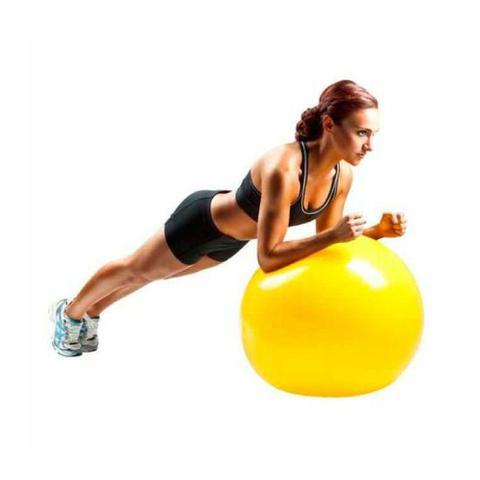 Imagem de Bola Suiça 75cm Premium Amarela Yoga Pilates Ginástica Exercícios Liveup