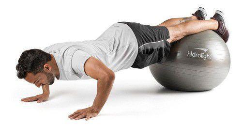 Imagem de Bola Suíça De Exercícios Yoga Pilates 75cm Hidrolight Fl13c