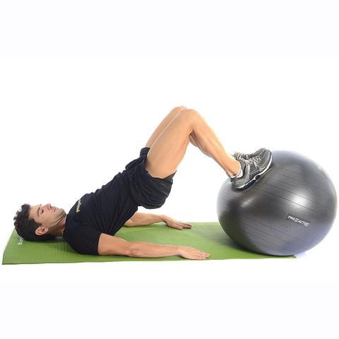 Imagem de Bola Suíça Ginástica Pilates Yoga C/ Bomba - Pro Action 75cm G131