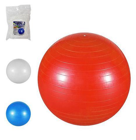Imagem de Bola Suiça Inflável 55 cm Para Pilates e Yoga Abdominal Ginástica Exercícios Fitness - Western