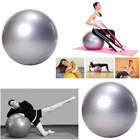 Imagem de Bola Suiça Pilates Yoga Abdominal Anti Estouro 65cm Gym Ball