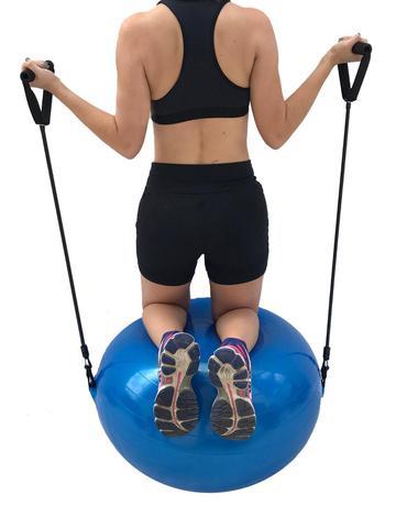 Imagem de Bola Suiça Pilates yoga + Puxador Corda  - WCT Fitness